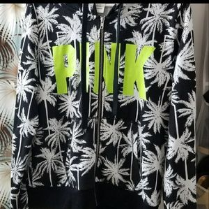 VS Pink Tropical Palm/Neon jogger SET
